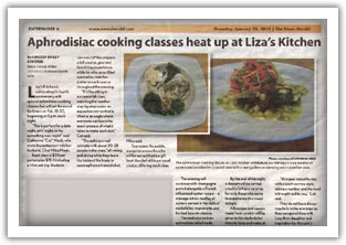 News Herald Article about our Cooking Class